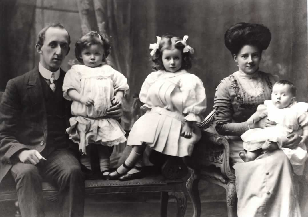 James Parker Barnes with his wife Amelia  nee Oldale  and their son    Youngest Parents 1910